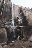 Waterval in yosemite stock afbeeldingen