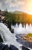 Waterval in Zweden Stock Afbeelding