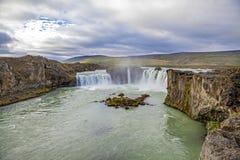 Watervallandschap in Iceland3 Royalty-vrije Stock Foto's