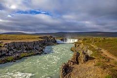 Watervallandschap in Iceland4 Stock Fotografie