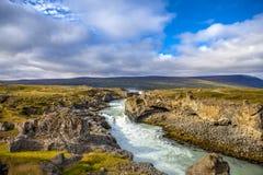 Watervallandschap in Iceland2 Stock Foto's