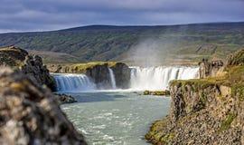 Watervallandschap in IJsland Royalty-vrije Stock Afbeeldingen
