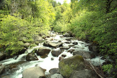 Watervallen als Energie stock afbeelding