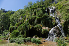 Watervallen in baume-Les-Messieurs stock foto