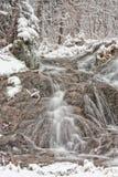 Watervallen in de Winter Stock Afbeelding