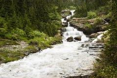 Watervallen in Gletsjer Royalty-vrije Stock Foto's