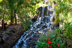 watervallen het draperen royalty-vrije stock foto's
