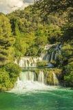 Watervallen in het Nationale Park van Krka, (Skradinski Buk) Dalmatië, Kroaat Royalty-vrije Stock Afbeeldingen