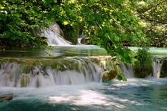 Watervallen II van Plitvice Stock Foto