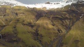 Watervallen in IJsland stock videobeelden