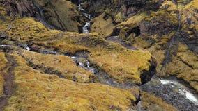 Watervallen in IJsland stock footage