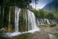 Watervallen Jiuzhaigou Stock Afbeeldingen