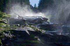 Watervallen Krimml in Oostenrijk Royalty-vrije Stock Foto