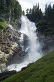 Watervallen Krimml in Oostenrijk Stock Foto