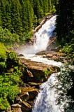 Watervallen Krimml in Oostenrijk Stock Foto's