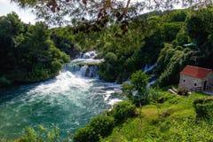 Watervallen Krka Stock Afbeeldingen
