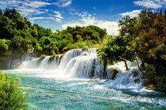 Watervallen Krka Stock Foto's