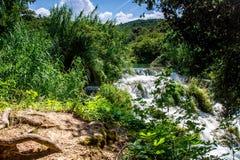 Watervallen Krka Royalty-vrije Stock Foto's