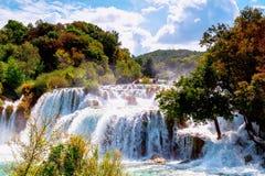 Watervallen Krka Royalty-vrije Stock Afbeelding