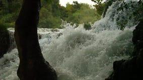 Watervallen, Krka NP, Dalmatië, Kroatië, Europa stock videobeelden
