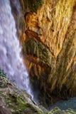 Watervallen in Monasterio DE Piedra, Zaragoza, Aragon, Spanje Royalty-vrije Stock Afbeelding