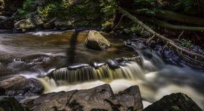 Watervallen op de Zwarte Rivier, New Jersey stock afbeeldingen