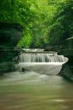 Watervallen op twee niveaus Stock Foto
