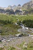 Watervallen Sofia, de Kaukasus, Rusland Stock Foto's