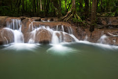 Watervallen in Trang. Stock Foto's