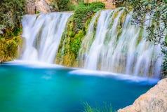 Watervallen van algar (Fuente DE Algar) Royalty-vrije Stock Afbeeldingen