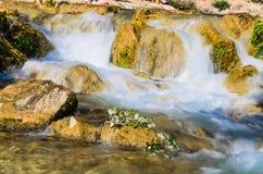Watervallen van algar (Fuente DE Algar) Stock Fotografie