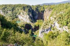 Watervallen van Plitvice, Kroatië Stock Foto