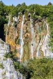 Watervallen van Plitvice, Kroatië Royalty-vrije Stock Afbeeldingen