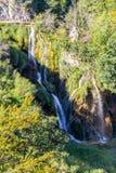 Watervallen van Plitvice, Kroatië Royalty-vrije Stock Afbeelding