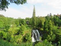 Watervallen van Rastoke, Kroatië Stock Afbeeldingen