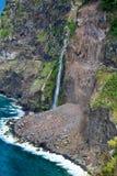 Watervallen van Seixal in Madera Royalty-vrije Stock Afbeeldingen