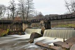 Watervallen in Vermaak en Recreatiecentrum Belmontas Vil Royalty-vrije Stock Foto