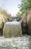 Watervallengedeelte bij irrigatiekanaal, Spanje Royalty-vrije Stock Afbeeldingen