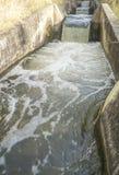 Watervallengedeelte bij irrigatiekanaal, Spanje Royalty-vrije Stock Fotografie
