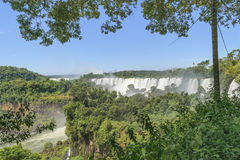Watervallenlandschap bij Iguazu-Park Royalty-vrije Stock Afbeelding