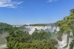 Watervallenlandschap bij Iguazu-Park Royalty-vrije Stock Fotografie