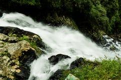 Watervalonduidelijk beeld Stock Afbeelding