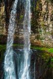 Watervalreus Oostelijk Abchazië Dichtbij de stad van Tkvarcheli Akarmaradistrict stock afbeelding