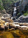 Watervalsleep in het Nationale Park van Tsitsikamma, Zuid-Afrika Stock Afbeeldingen