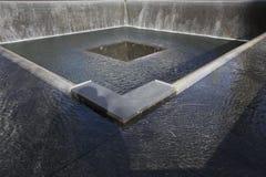 Watervalvoetafdruk van WTC, Nationaal 11 September Gedenkteken, de Stad van New York, New York, de V.S. Royalty-vrije Stock Fotografie