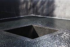Watervalvoetafdruk van WTC, Nationaal 11 September Gedenkteken, de Stad van New York, New York, de V.S. Royalty-vrije Stock Foto's