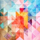 Waterverf abstracte achtergrond met verschillende geometrisch stock afbeeldingen