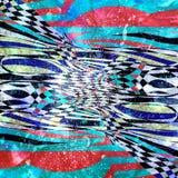 Waterverf abstracte achtergrond met verschillende golven en lijnen stock afbeeldingen