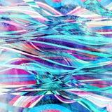 Waterverf abstracte achtergrond met verschillende golven en lijnen royalty-vrije stock foto's
