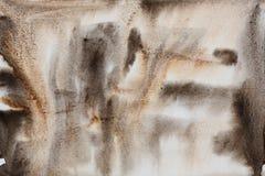 Waterverf abstracte bruine zwarte Royalty-vrije Stock Foto